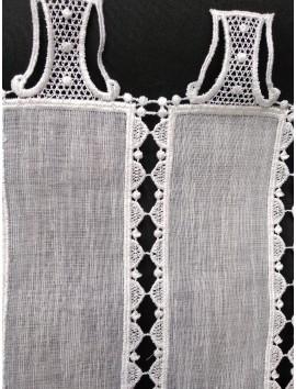 Cortinas para barra,blanca, cenefas bordadas