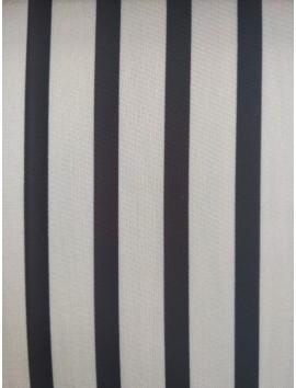 Satén estampado de rayas , blanco y negro