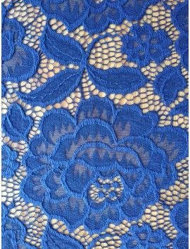 Encaje floral azul