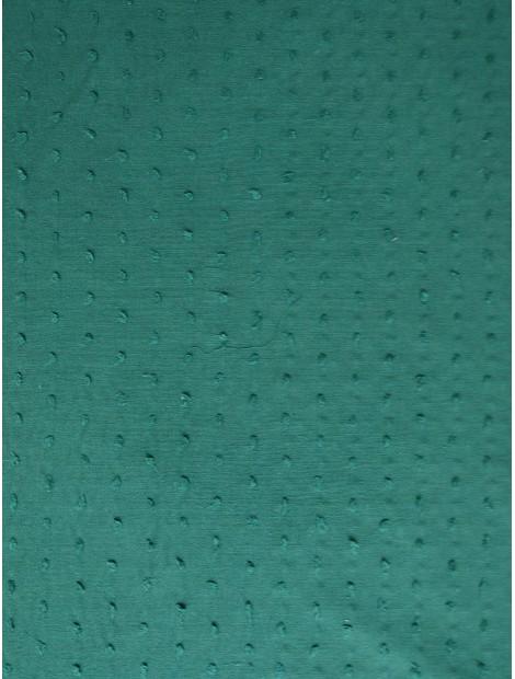 Plumeti de algodón verde