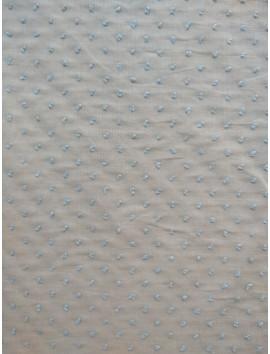 Plumeti de algodón beige topo blanco