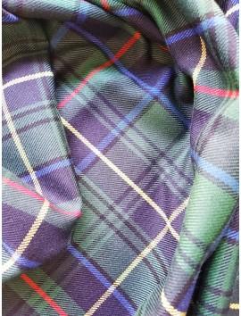 Cuadros Escoceses Verdes con Raya Azul, Roja y Amarilla