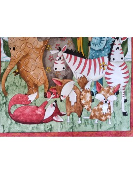 Panel Algodón Patchwork animales