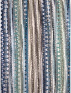 Brocado rayas y zigzag azul