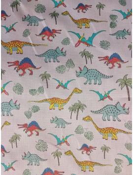 Piqué dinosaurios y palmeras