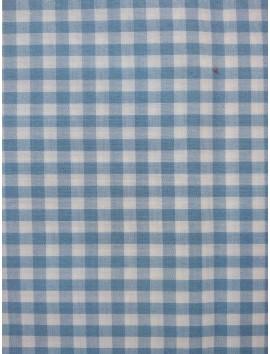 Vichy cuadros azul celeste