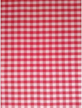 Vichy cuadros rojos