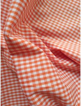Vichy cuadros naranjas