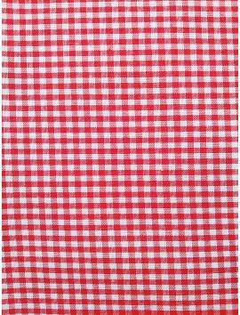Vichy cuadros rojos pequeños