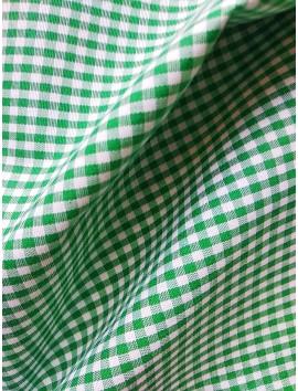 Vichy cuadros verdes pequeños