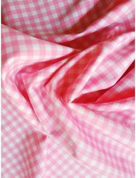 Vichy cuadros rosas pequeños