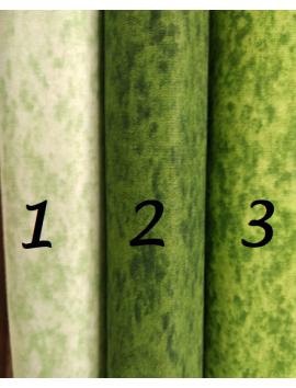 Algodón Patchwork marmolado verde 3