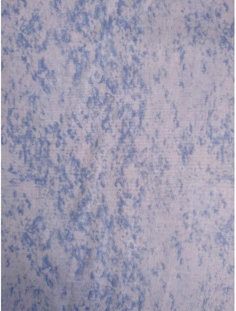 Algodón Patchwork marmolado azul