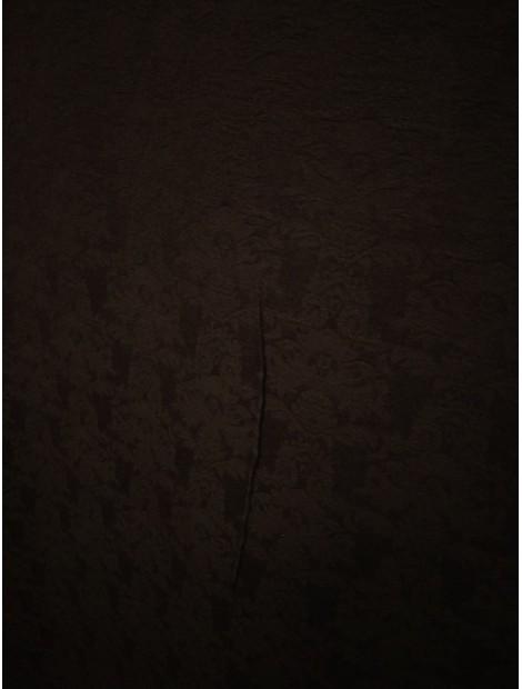 Brocado negro floral spandex