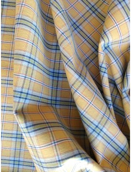 Algodón  cuadros amarillos