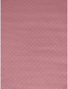 Algodón  rosa topitos blancos (lunares)