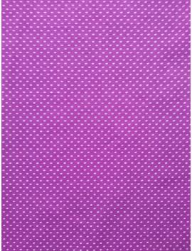 Algodón violeta topitos blancos (lunares)