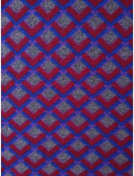 Cuadrados rojos y grises, fondo azul