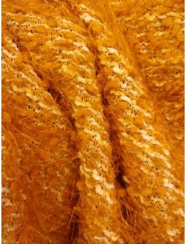 Lana franjas mostaza, blanco y naranja