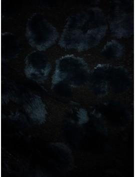 Pelo ecológico negro y azul