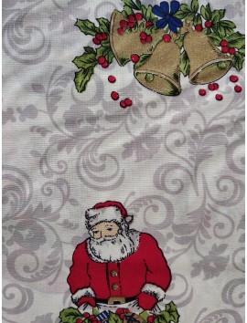 Popelín Navidad Papa Noel y campanas