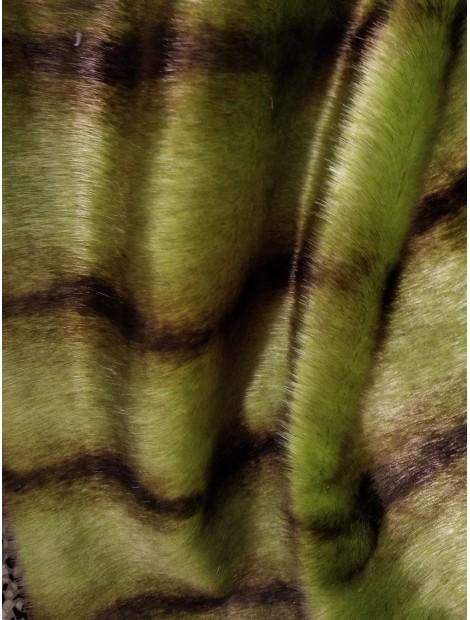 Pelo ecológico verde y marrón