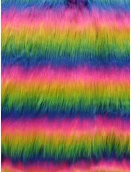 Pelo ecológico rayas de colores