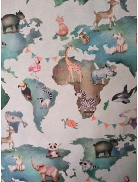 Loneta mapa con animales