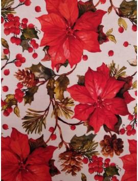 Loneta de Navidad , flor de pascua