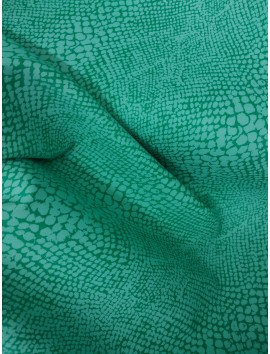 Gabardina animal print verde