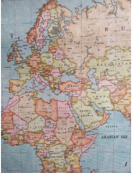 Mantel resinado mapa mundi