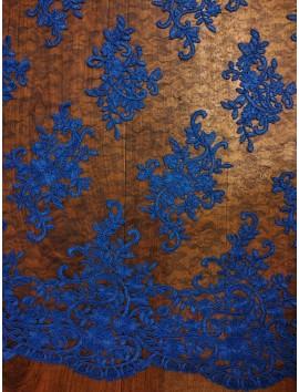 Tul Bordado azul A4