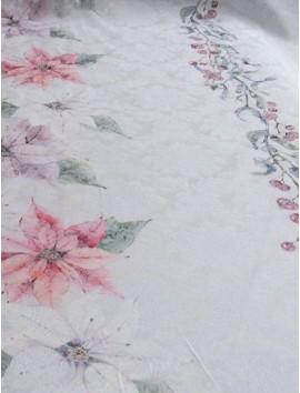 Loneta Mantel de Navidad Flores