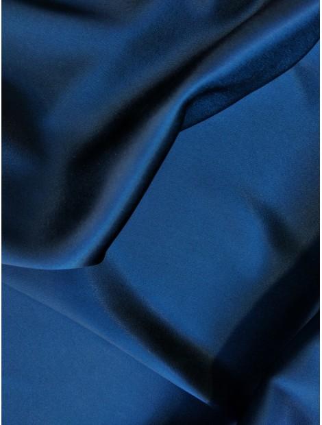 Satén de triacetato dos caras, azul marino y negro