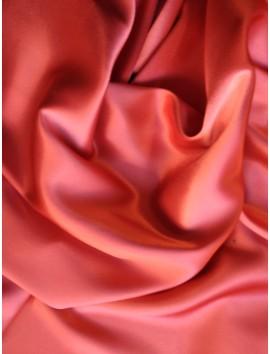 Satén de triacetato dos caras, rosa y rojo