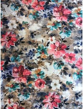Terciopelo de elástico floral