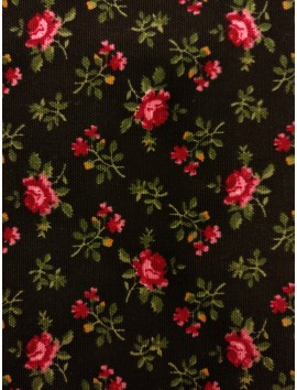 Gabardina floral fondo negro