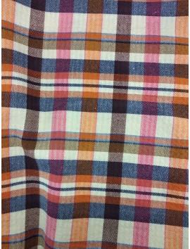 Cuadros Escoceses , azul, naranja y blanco