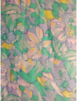 Tela sábana con estampado floral