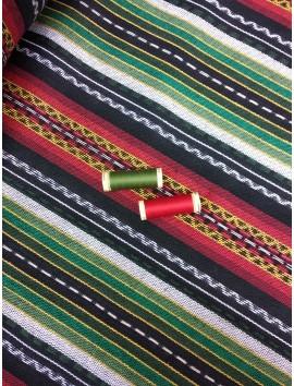 Tela Alpujarreña roja y verde