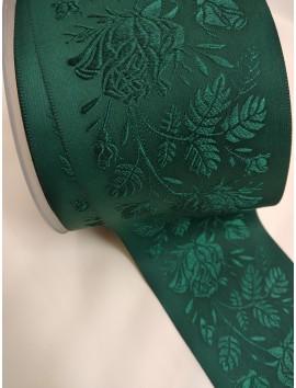 Cinta jacquard verde c33 - 6,8 cm