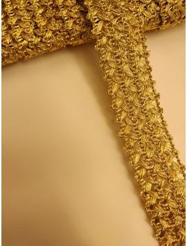 Pasamanería metálica oro  P3 - 3 cm