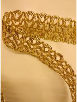 Pasamanería metálica oro  P4 - 4 cm