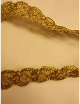 Pasamanería metálica oro  P6 - 4 cm