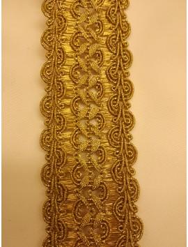 Pasamanería metálica oro  P7 - 5 cm