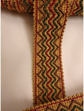 Pasamanería , Galón bordado zigzag P15 - 4 cm