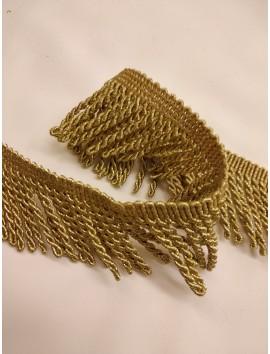 Pasamanería , flecos metálicos oro