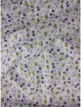 Plumeti de algodón flores azules