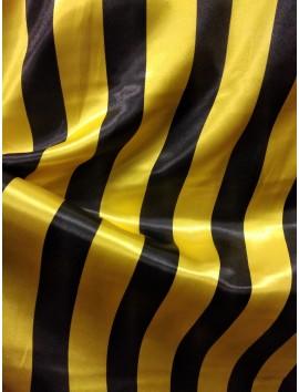 Raso rayas negras y amarillas