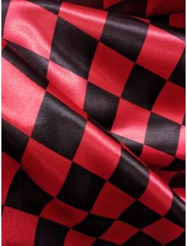Raso cuadros negros y rojos